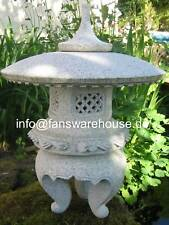 Maru Yukimi H 30 cm Granitlaterne Japanische Steinlaterne aus Granit Koi Teich