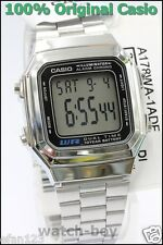 A178WA-1A Genuine Casio Watch Silver Stainless Steel Band E-Data-Bank A-178WA