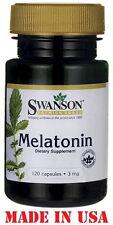 Swanson Melatonin Sleep Aid 3mg 120 Capsules Posted From UK