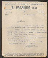 """SEPTFONDS (82) Construction Mecanique / CHAUDRONNERIE """"Y. VALMIER"""" en 1946"""