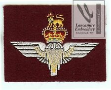 Lancashire Embroidery Parachute Regiment  Blazer Badge