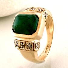 Ring mit Smaragd ca. 2,8 ct & Diamanten ca. 0,15 ct W-si in 14K/585 Roségold