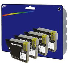 4 Black Compatible Printer Ink Cartridges for Brother MFC-J5910DW [LC1280]