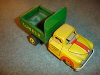 Old Vtg Marx Mar Line Dodge Keystone Supply Tin Litho Toy Truck Made In Japan