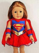 DOLL CLOTHES FOR AMERICAN GIRL DOLL CLOTHES SUPER GIRL COSTUME DRESS WITH CAPE