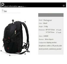 """SwissGear Multifunctional 17"""" laptop backpack USB Charged Travel bag Schoolbag"""