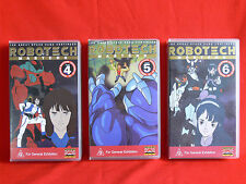 ROBOTECH MASTERS - Volumes 4, 5, 6 - VHS Vdeo Tapes - COLLECTABLE ANIME SCI-FI