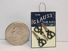 Dollhouse Miniature Sewing Shop Scissors Hanging Display C 1:12  one inch A43