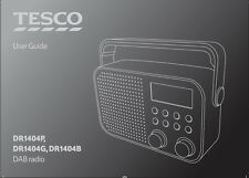Instruction Manual for DR1404P / DR1404G / DR1404B DAB Radio - Replacement Copy