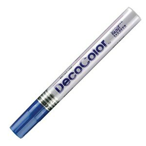 300-3 Marvy DecoColor Opaque Paint Marker, Broad Tip, Blue, Pack of 1