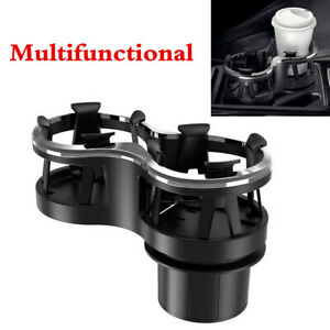 Universal Car Central Console Dual Hole Cup Holders Coffee Drink Bottle Mount