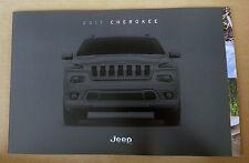 2017 Jeep Cherokee Original Sales Brochure Catalog + Buyer's Guide NEW