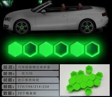 wheel nut bolt covers caps 20pcs Gel green silicon caps dust cap protector