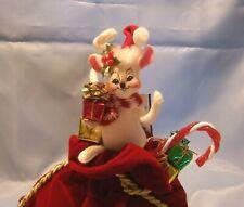 "New listing Annalee Mouse Atop Santa's Big Toy Bag Smithsonian Santa's Helper 9"" New Mip Nos"