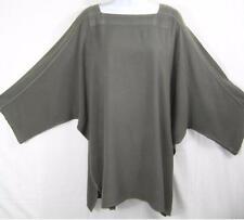 TIENDA HO~Gray~MOROCCAN COTTON~QUILTED Neck~11 Top~Kimono Sleeve~Free/os (M-2X?)