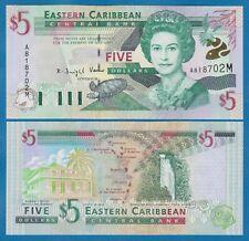 "East Caribbean States 5 Dollars P 37m UNC ""Montserrat"" Low Shipping Combine 37 M"