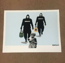 SHOPPING WARS LIMITED EDITION FINE ART  PRINT BY BANSKY NOT BANKSY. NOT GDP