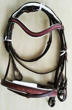 Rsi Leather Headstall Bridle Sparkling Brow-band with Matching Reins Horse tack8