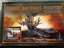 Games Workshop Chaos Daemons Herald of Tzeentch on Burning Chariot NIB Opened