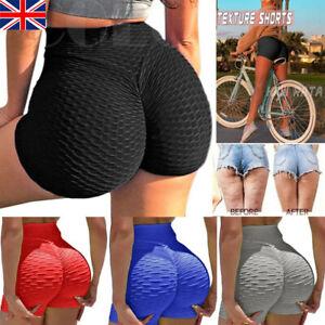 Women Anti-Cellulite Yoga Pants Shorts Tik Tok Hot Leggings Bum Butt Lift Sport