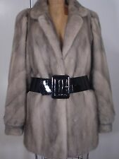 Designer FERAUD Paris Grey Mink Fur Jacket Coat Size 8-10 Excell Cond FREE SHIP