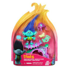 """Hasbro DreamWorks Trolls Story Pack Branch's Skate 'n Skitter 5"""" Doll Set New"""