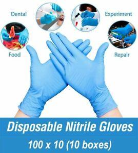 100 x 10 Disposable Nitrile Powder Free Medical Grade Premium Protective Gloves