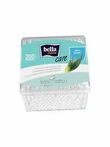 Bella Cotton Buds with Aloe Vera Extract Plastic Box - 200 Pcs free shipping