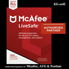 McAfee LiveSafe 2021 for 10-device 1-year | Activation Code [Global]