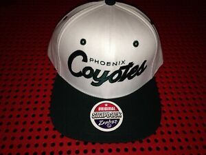 Phoenix Coyotes Zephyr white Snapback hat New Nhl Hockey script