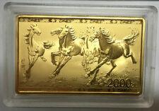 China 2015 5oz gold coin painting master Xu Beihong six galloping horses