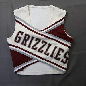 Vintage Varsity Spirit Fashions Cheerleader Uniform Top Grizzlies Size 38 USA