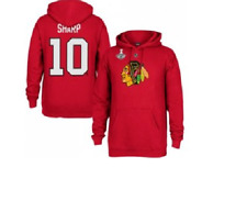 NHL Chicago Blackhawks #10 Stanley Cup Champions Hooded Sweatshirt New Mens Size