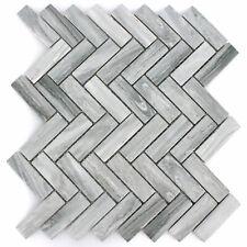 Keramik Mosaik Fliesen Rotilia Steinoptik Grau Fischgrät Küchenspiegel WC Bad