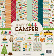 Echo Park - Happy Camper 12x12 Scrapbook Kit Papers + Stickers Camping Fishing