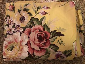 RALPH LAUREN BROOKE SOPHIE FLORAL YELLOW/RED/PINK/GREEN Full FLAT SHEET