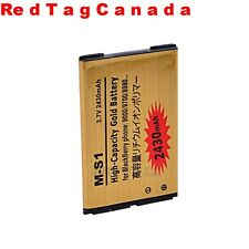 2430mAh Business Gold Battery for Blackberry M-S1 MS1 9000 9700 8980 - CANADA