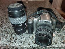 Canon EOS Digital Rebel / EOS 300D 6.3MP Digital SLR Camera - Silver (Kit w/ EF…