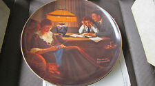 Knowles Norman Rockwell Collector Plate Father's Help Original Box with Papers