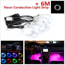 5in 1 RGB LED Car Interior Decor Neon EL Strip Light Sound Active Remote Control