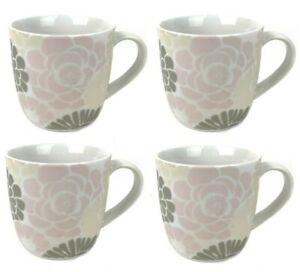 4 Kaffeetassen 250ml Weiß Set Keramik Pott Tee Latte Becher Mug Cafe Tasse Cup