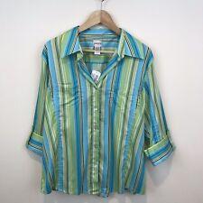 Chico S Cap Sleeve Striped Tops Blouses For Women Ebay