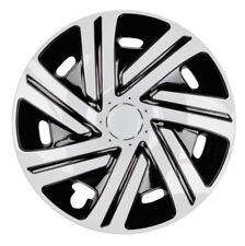 4x PREMIUM DESIGN Radkappen Radzierblenden Cyr LACKIERT 15 ZOLL #42 Schwarz Weiß