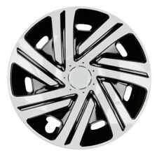 4x Premium Diseño Tapacubos CYR pintado 15 pulgadas #42 Negro Blanco