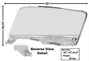 1965-66 Ford Mustang Fastback Door Glass Kit w/Window Frame & Glass - RH