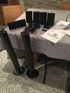 5x Harman Kardon Lautsprecher Boxen HKTS + 2 Boxenständer HTFS2