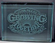 John Deere 1997 Louisville Parts Expo Growing Together Colored Glass Paperweight