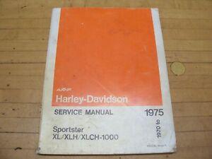 Harley Davidson 1975 Repair Motorcycle Manuals And Literature For Sale Ebay