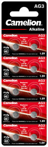 Camelion AG3 Knopfzelle Knopfbatterie LR41 SR41 392 AG3 SR41W GP92A  09-2025