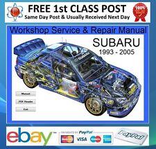 Subaru Impreza WRX/STI 1996 2005 Taller reparación Manual en CD